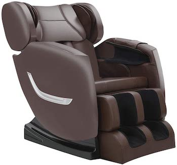 Full body electric zero gravity shiatsu massage chair with bluetooth heating and foot roller