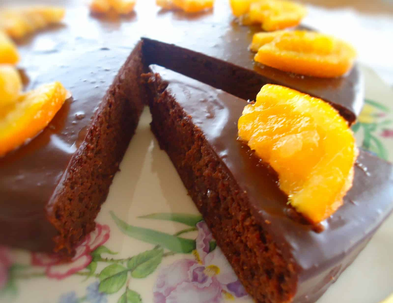 Garbanzo bean chocolate coconut cake