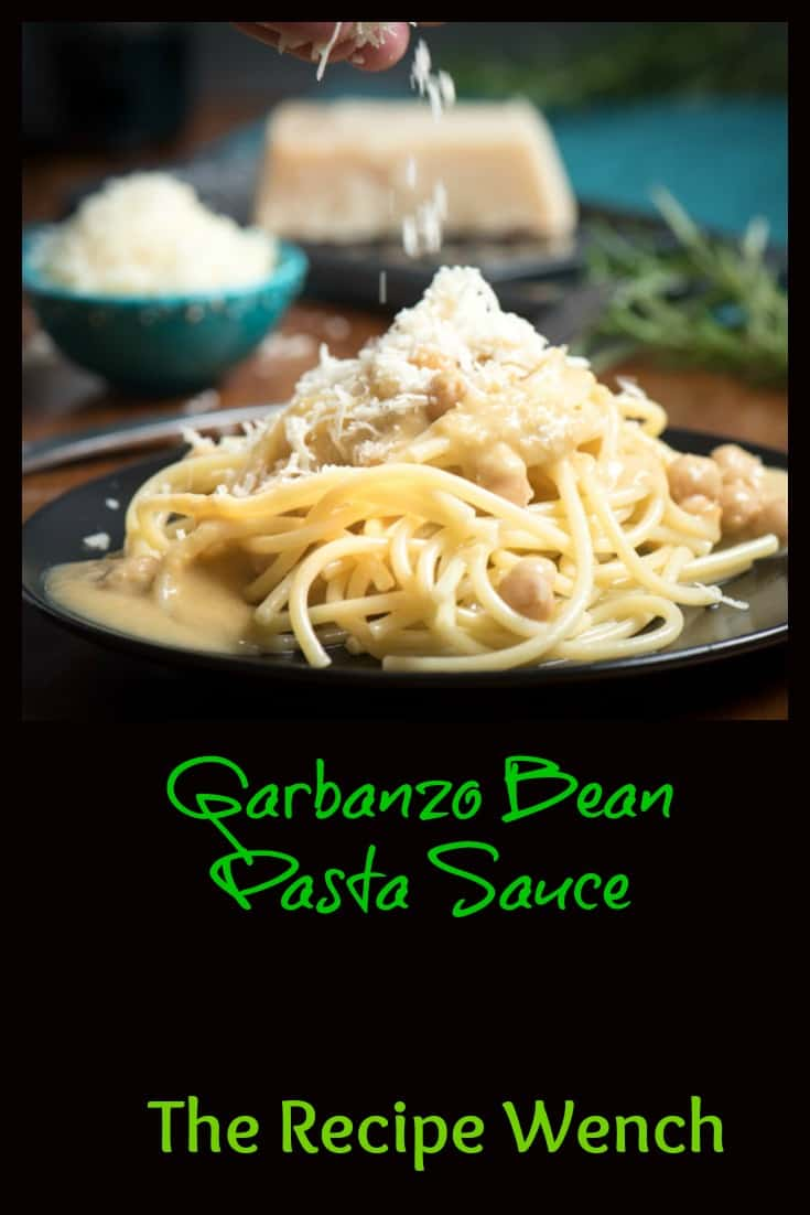 Garbanzo bean pasta sauce