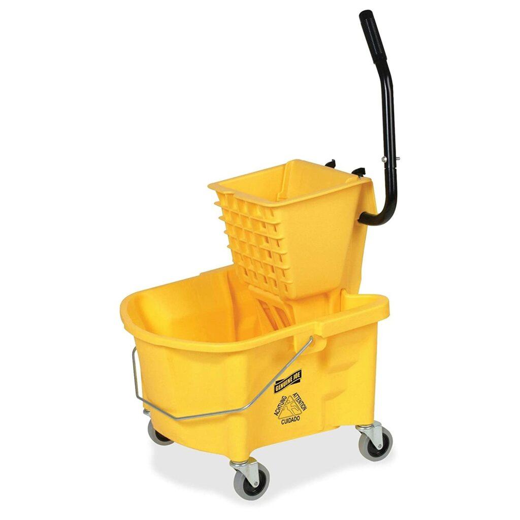 Genuine joe splash guard mop bucket