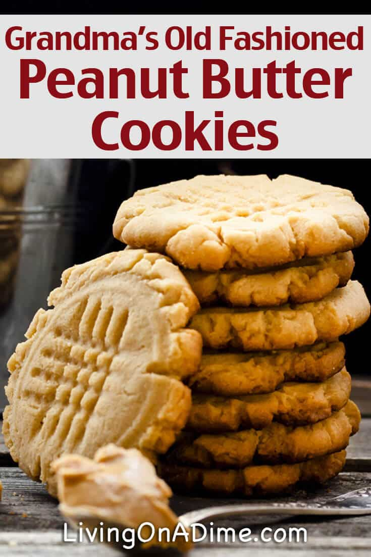 Grandma's old fashioned peanut butter cookies