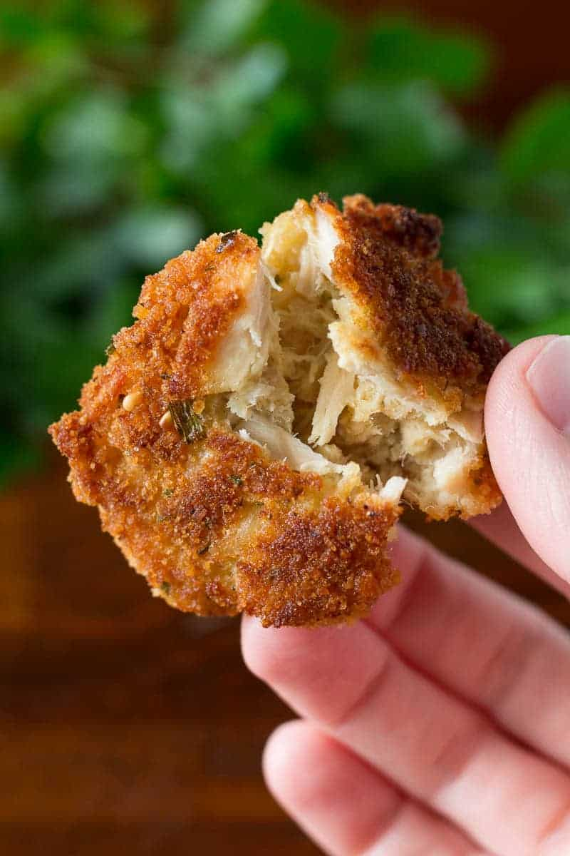 Italian style tuna cakes with just four ingredients