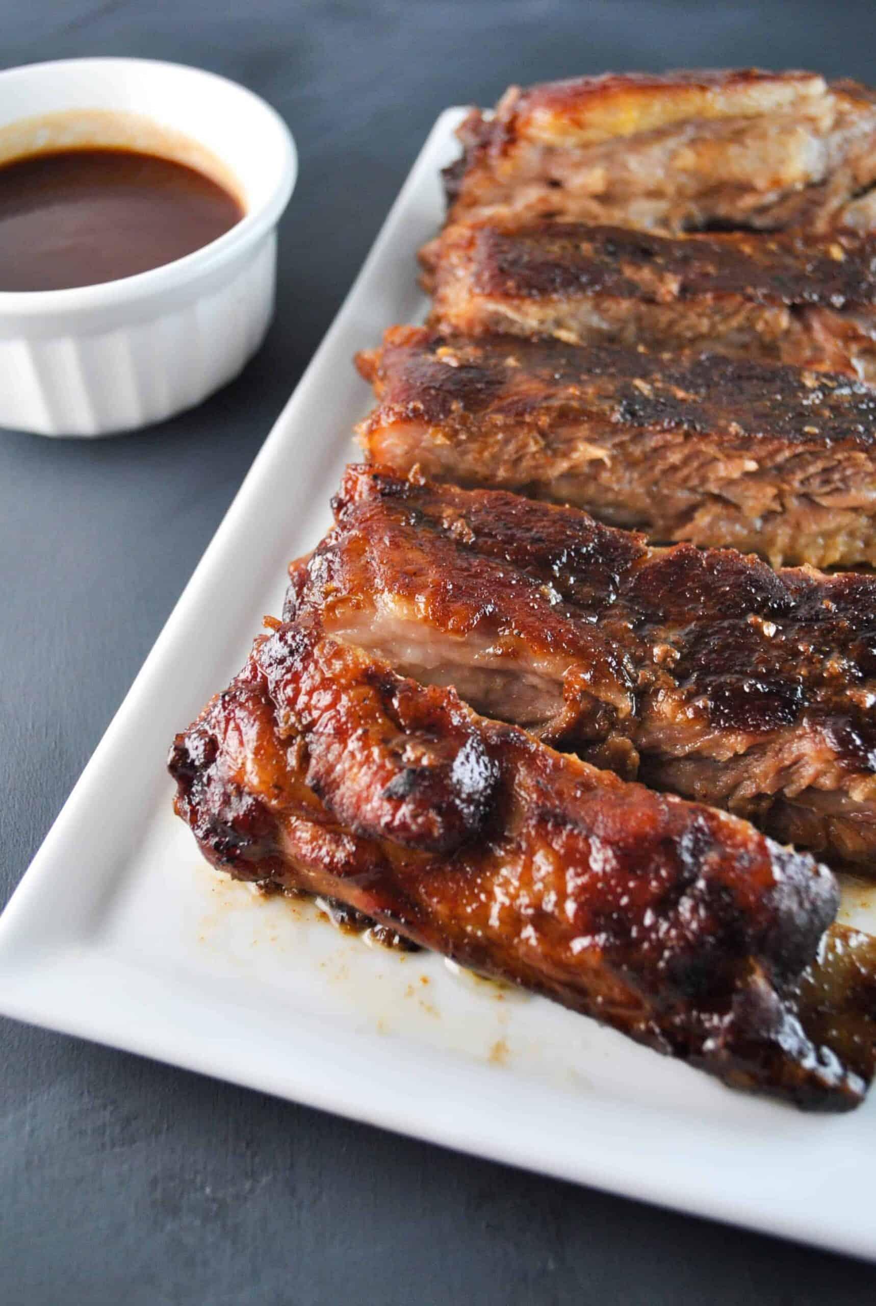 Maple brown sugar bbq ribs