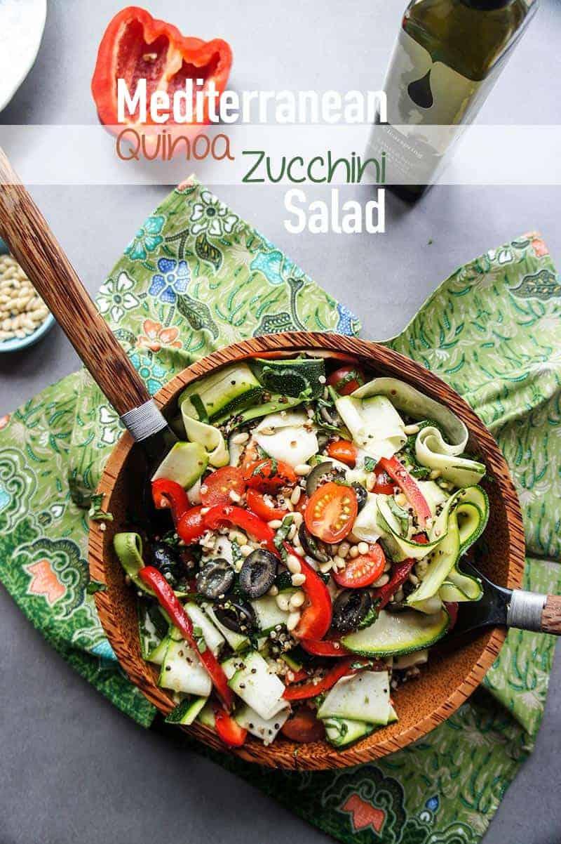 Mediterranean quinoa zucchini salad