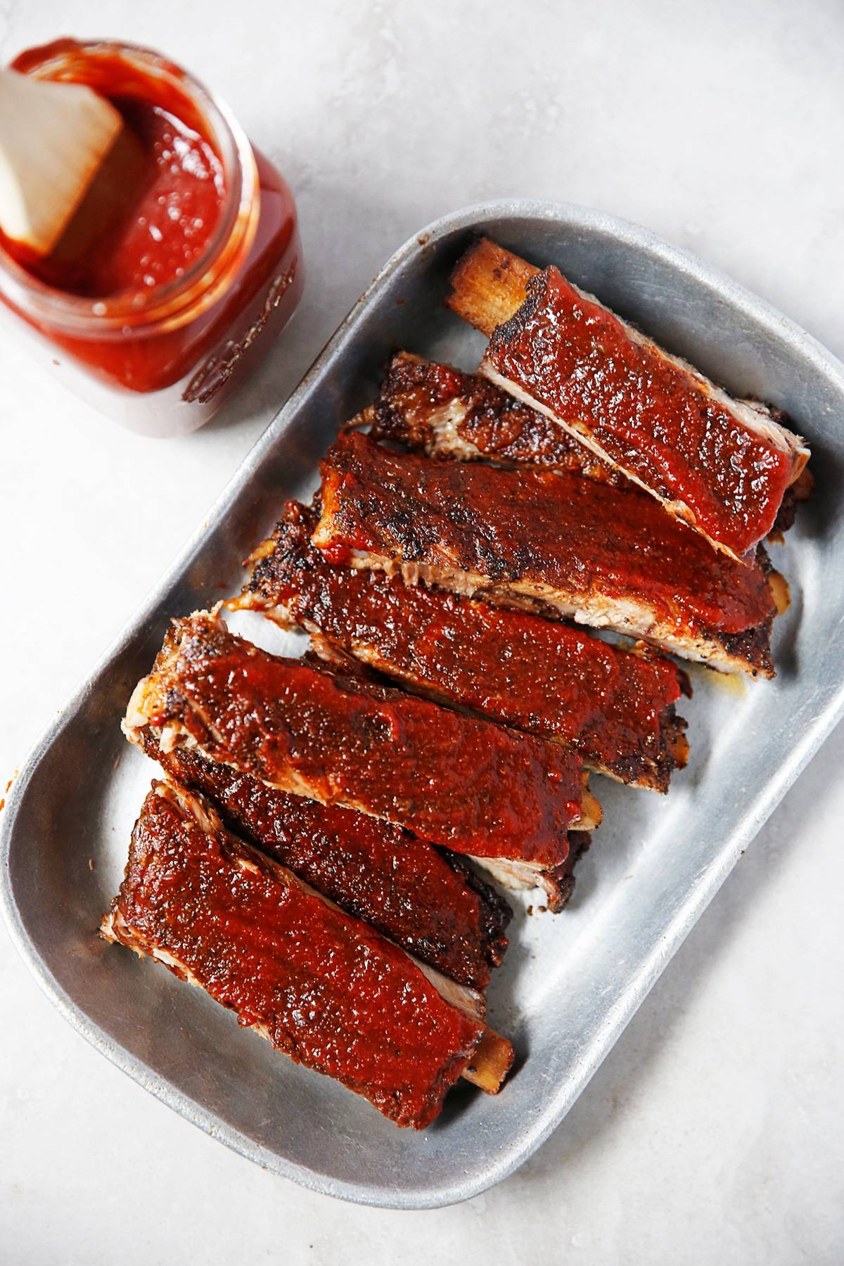Oven baked coffee bbq pork ribs