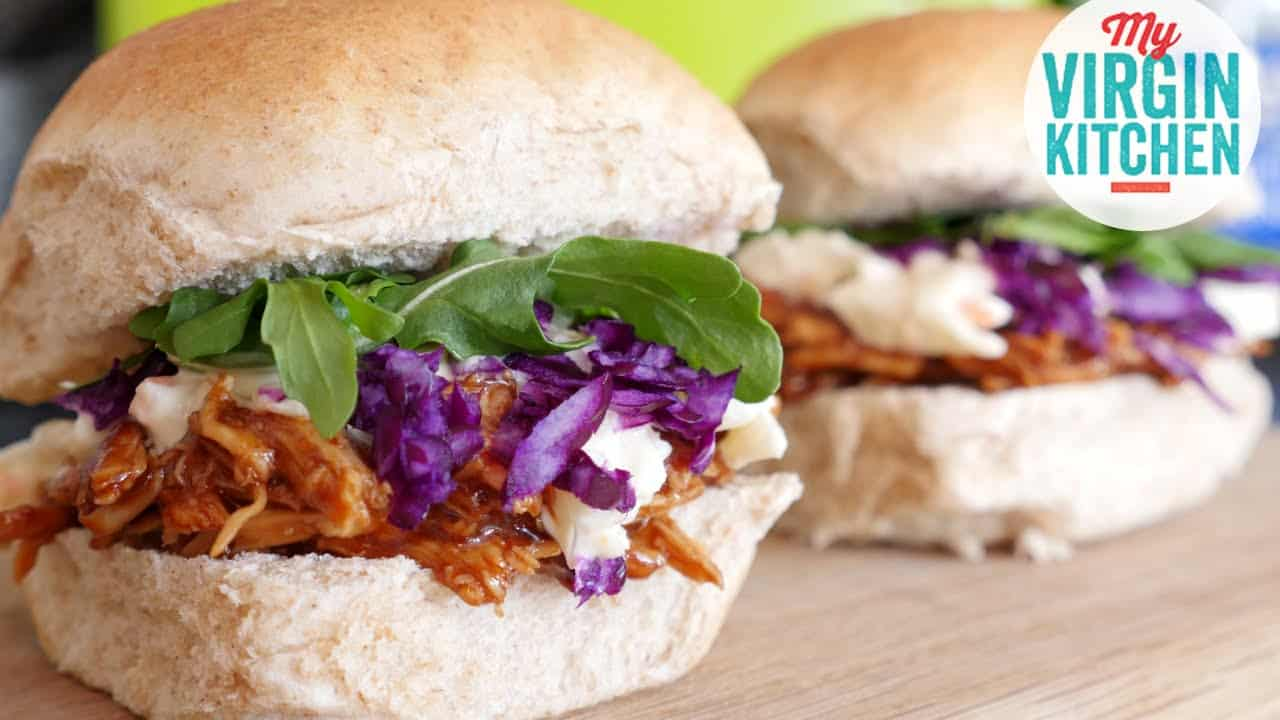 Pulled chicken burger recipe