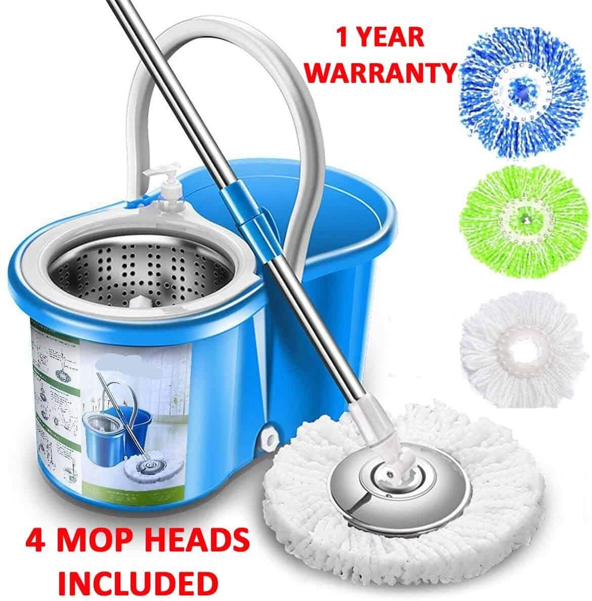 Simpli magic spin 4 headed mop