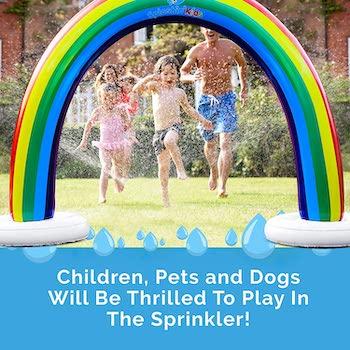 Splashin'kids outdoor rainbow sprinkler