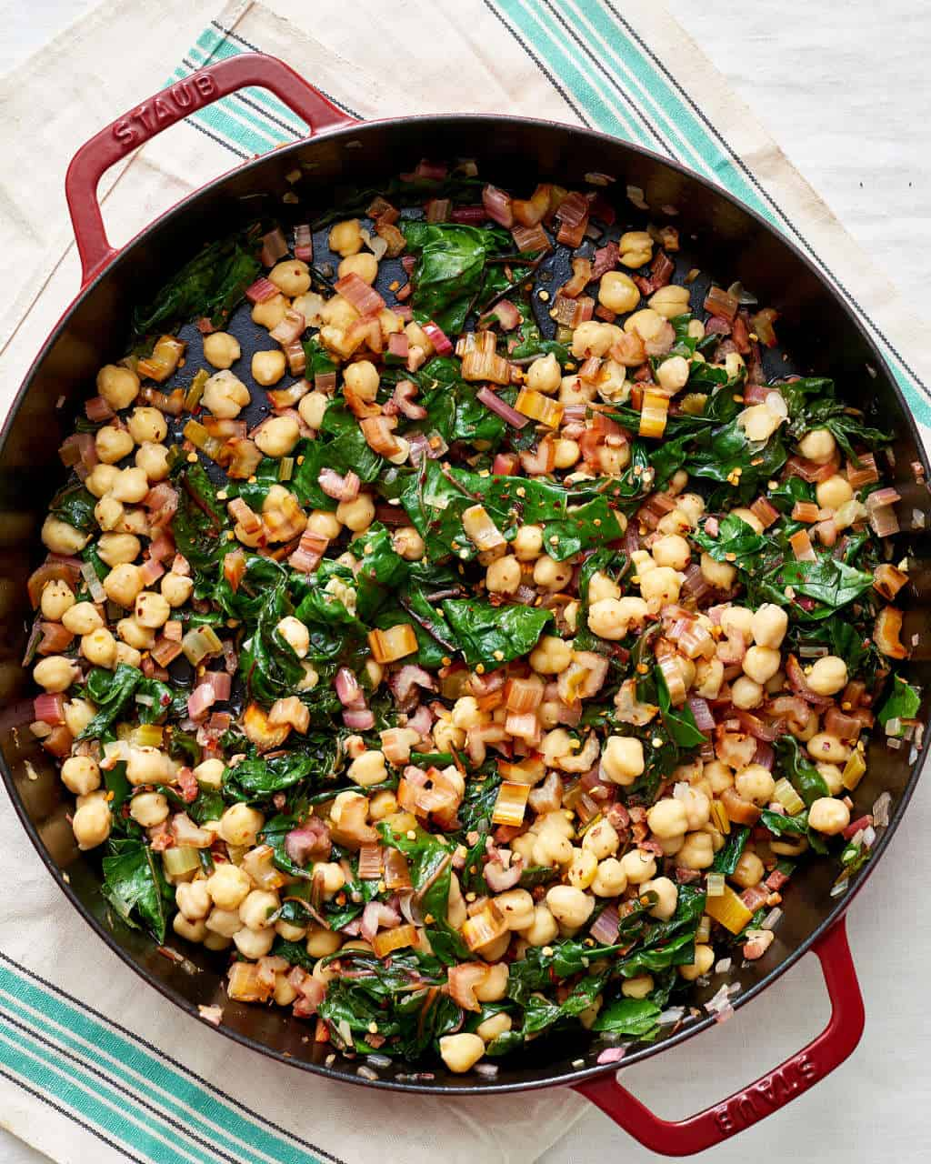Swiss chard with garbanzo beans