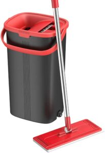 TETHY Flat Floor Mop & Bucket Set