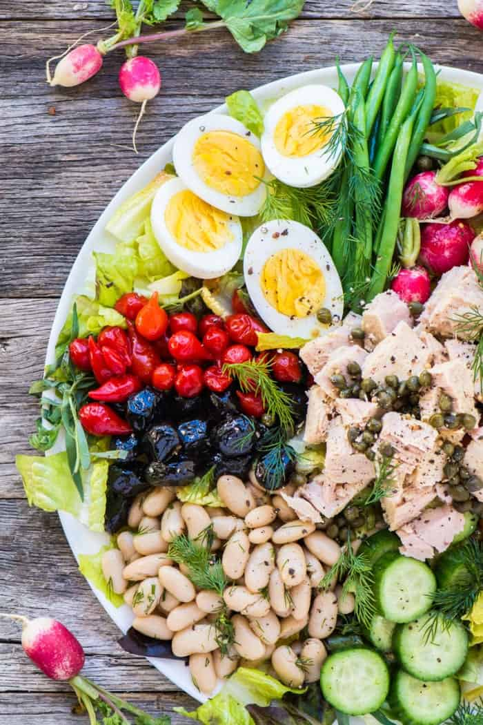 The perfect nicoise salad using canned tuna