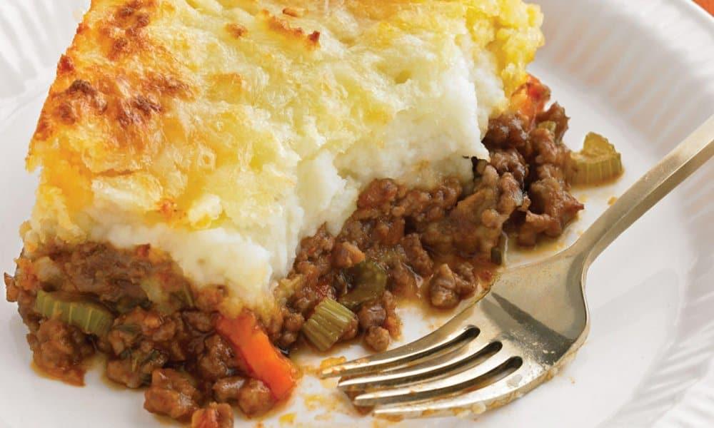 Traditional sheperd's pie