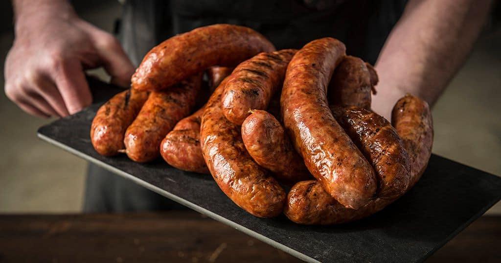 Traegar smoked beef sausages