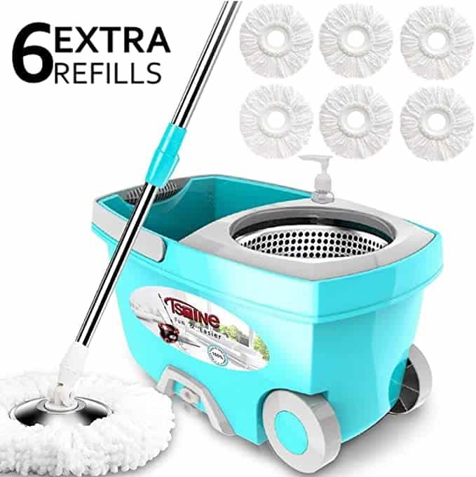 Tsmine spin mop bucket system