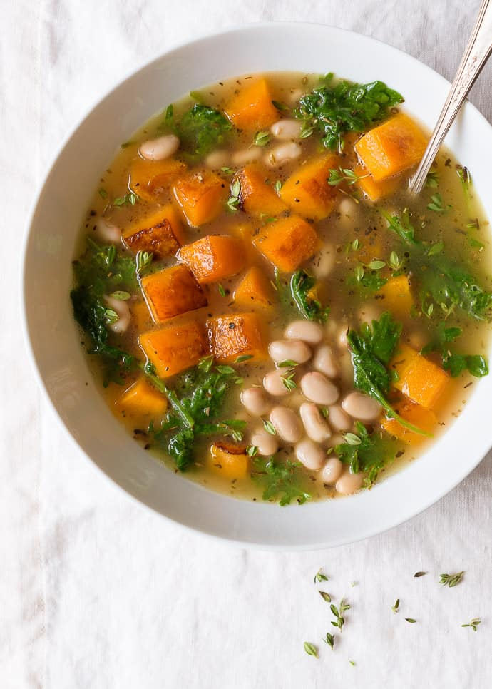 Tuscan white bean and butternut squash soup