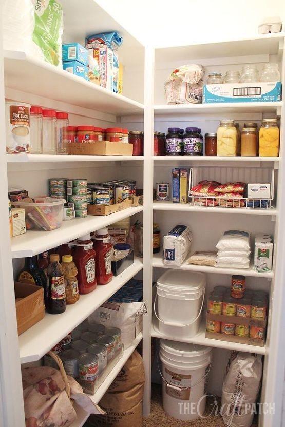 White pantry shelves