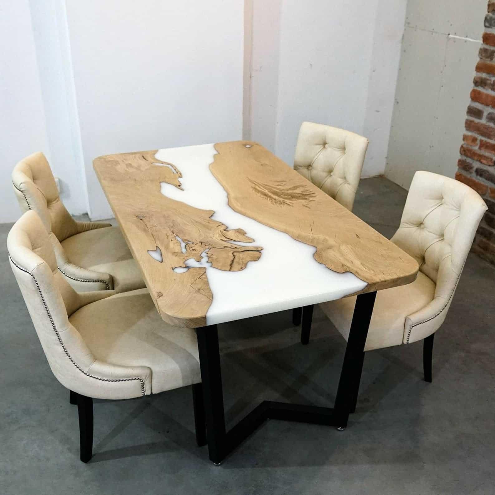 Woodstock's epoxy live edge dining room table