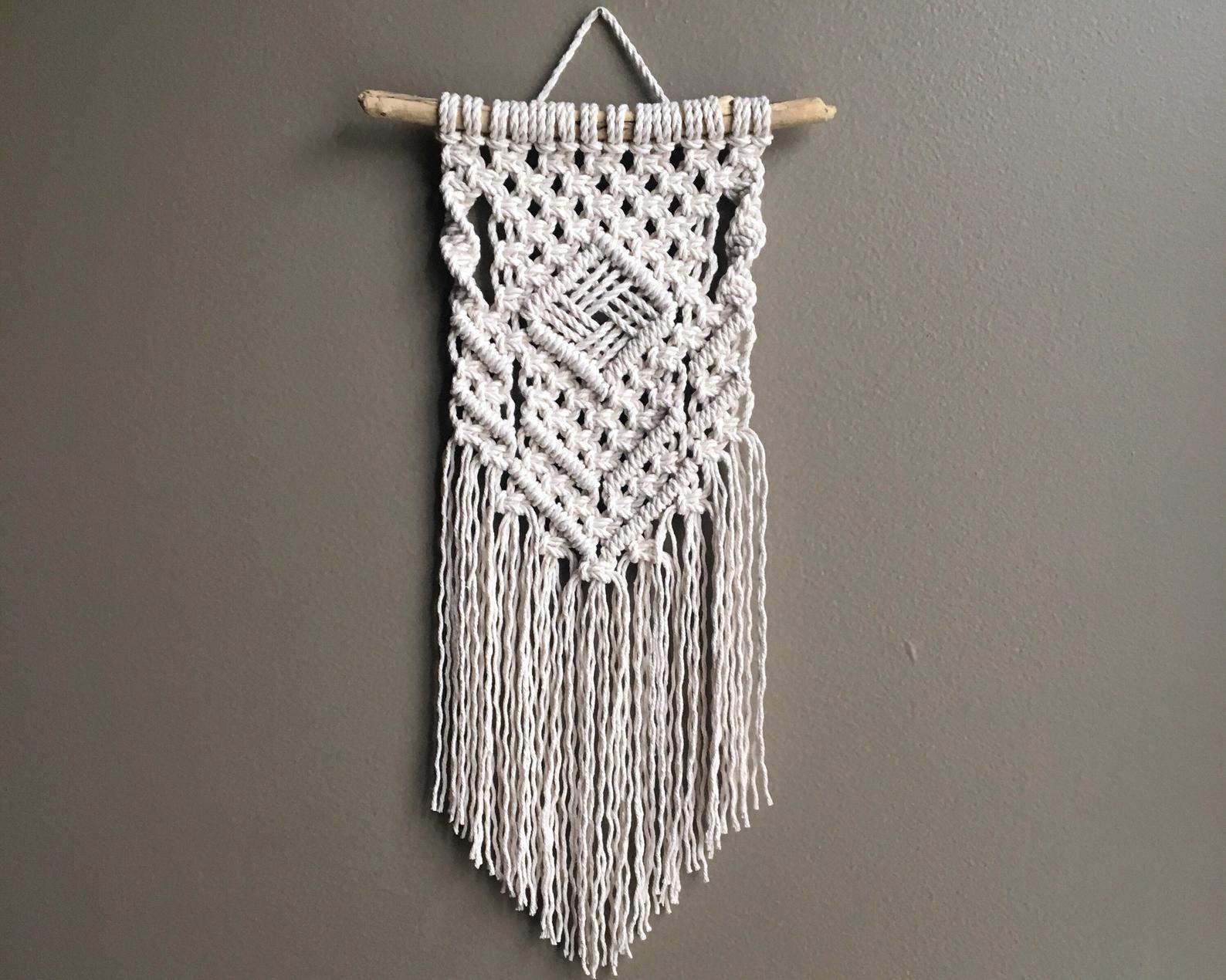 Diamond wall hanging