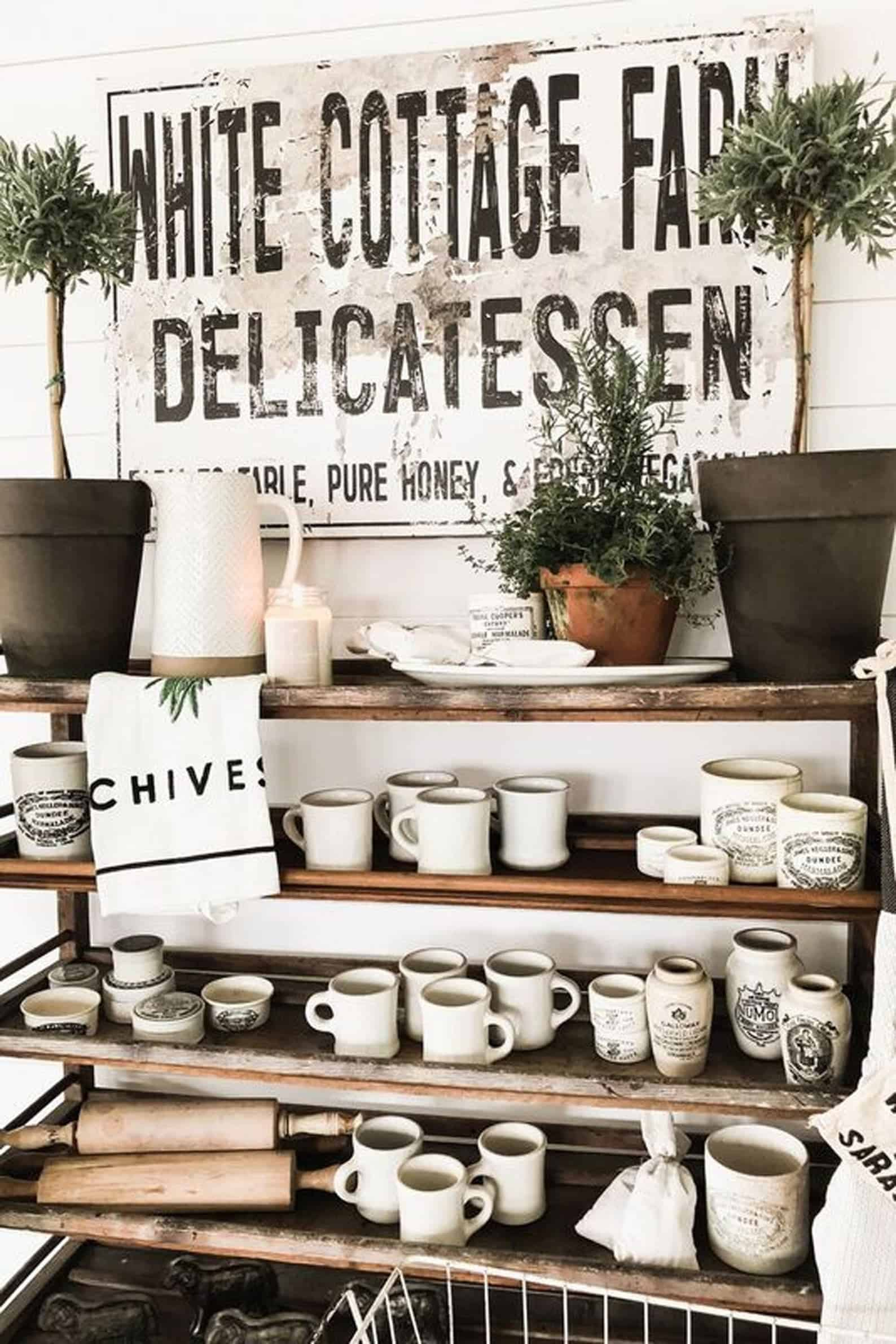 Large farmhouse kitchen sign personalized