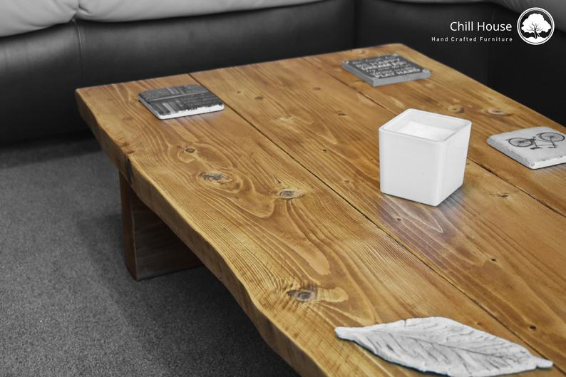 Live edge coffee table handmade