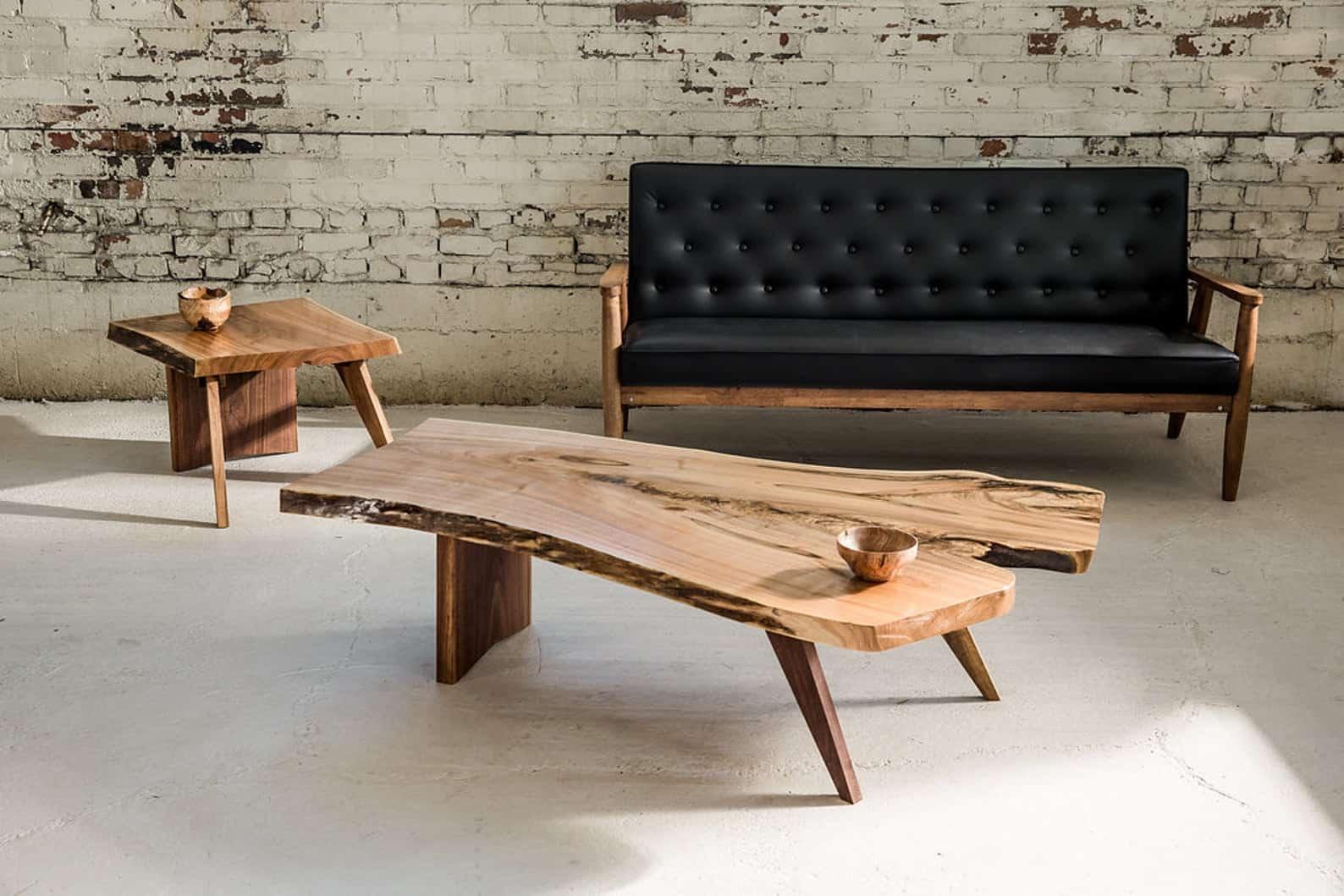 Midcentury nakashima live edge coffee table