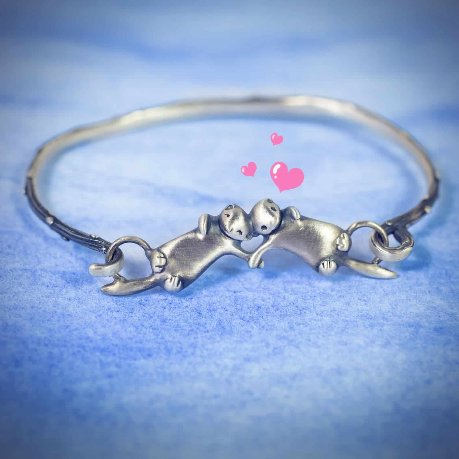 Otter couple bracelet