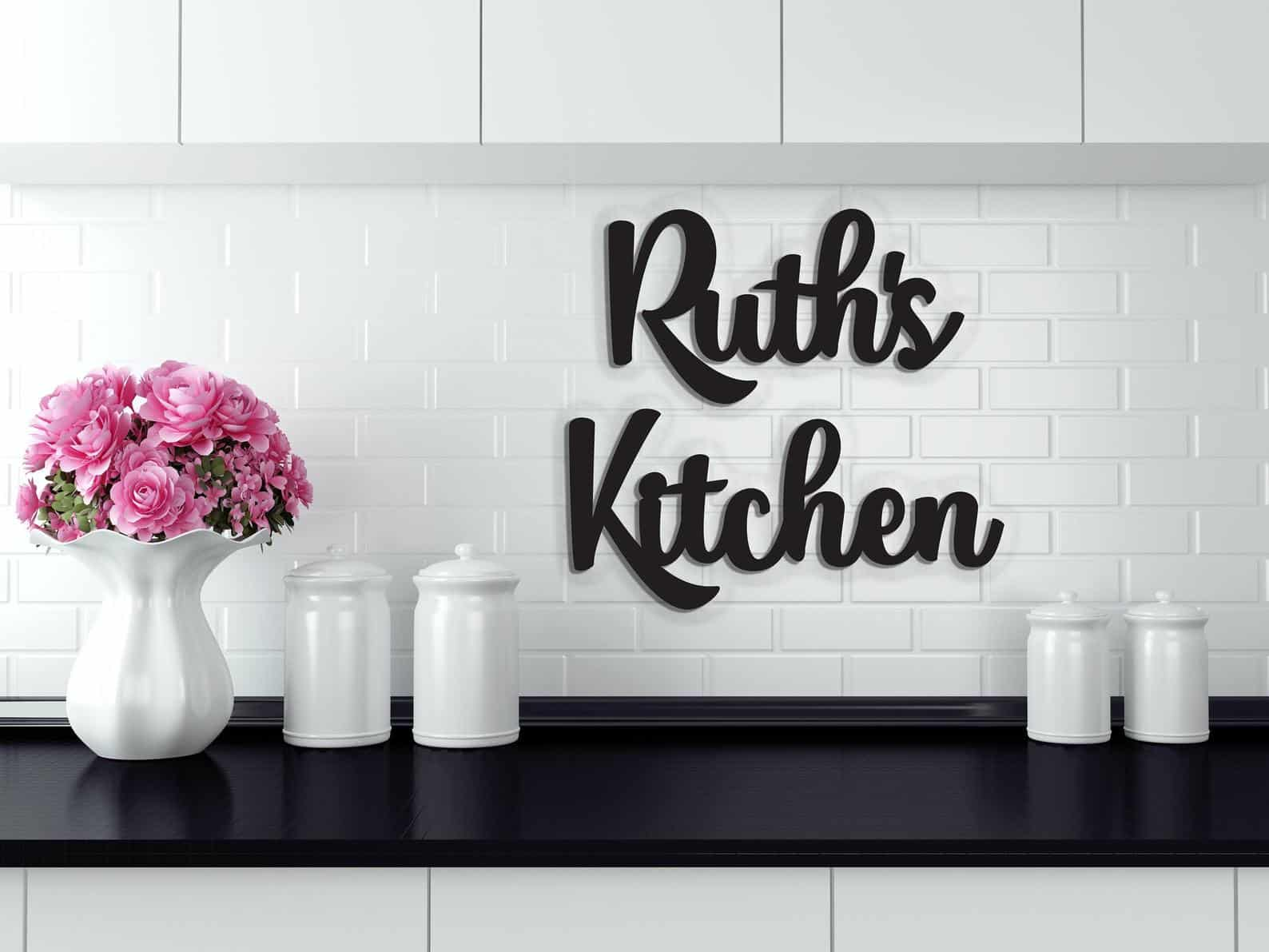 Personalized kitchen sign