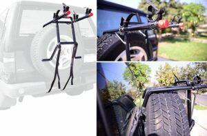 Allen Sports Deluxe 2-Bike, Spare Tire Mounted Rack