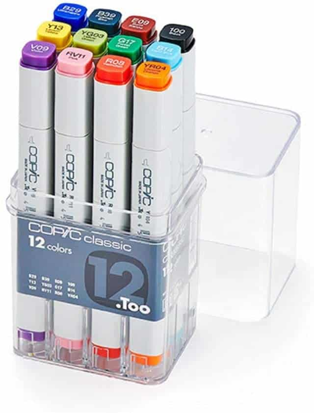 Copic 12 piece basic marker set