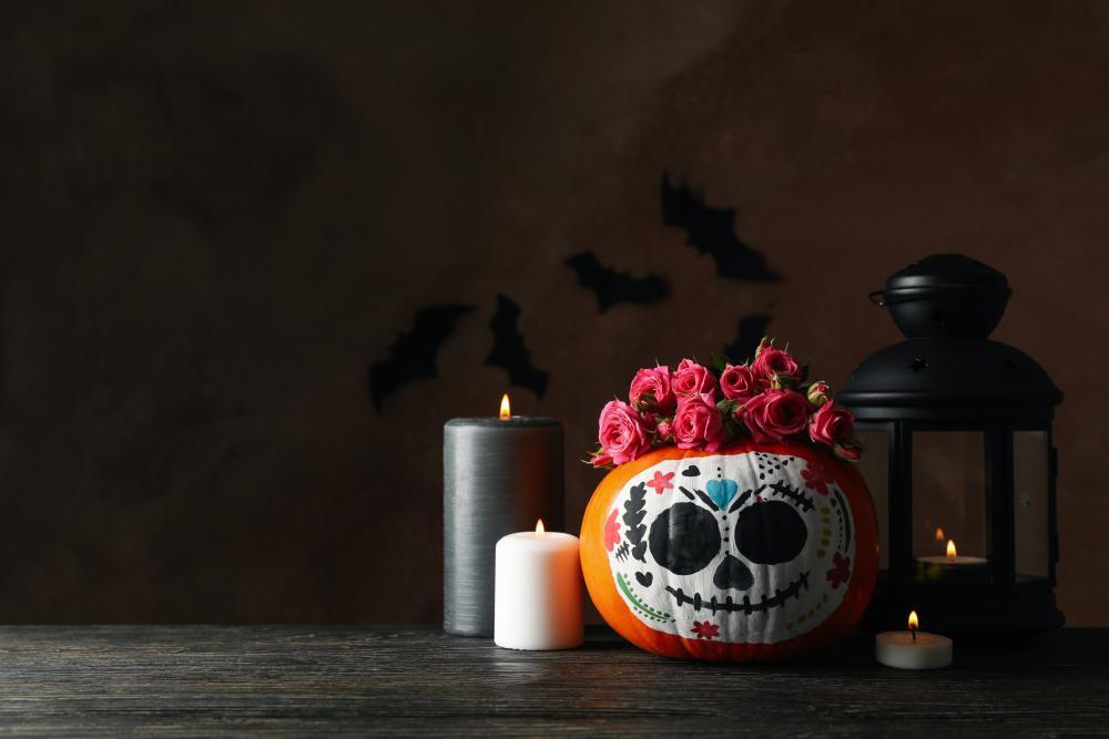 Cute painted pumpkins dia de murto