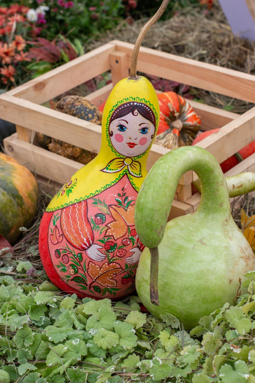 Cute pumpkin painting ideas matrioska pumpkins