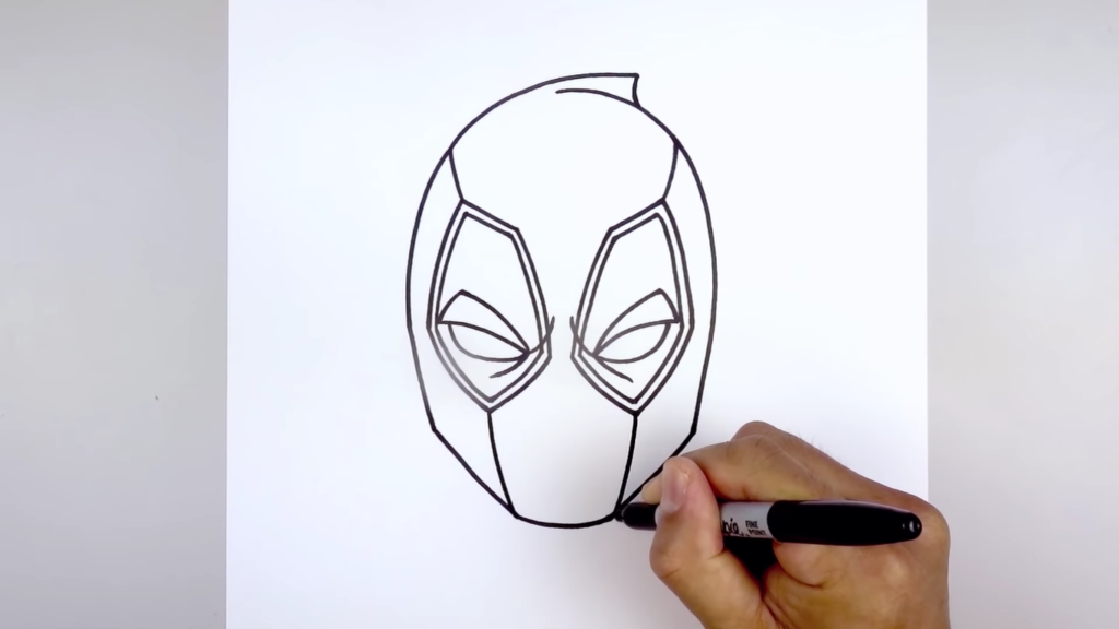 Deadpool Drawing Face Easy Pics