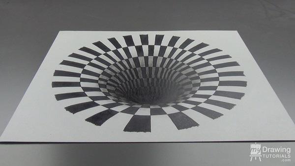 Hole optical illusion