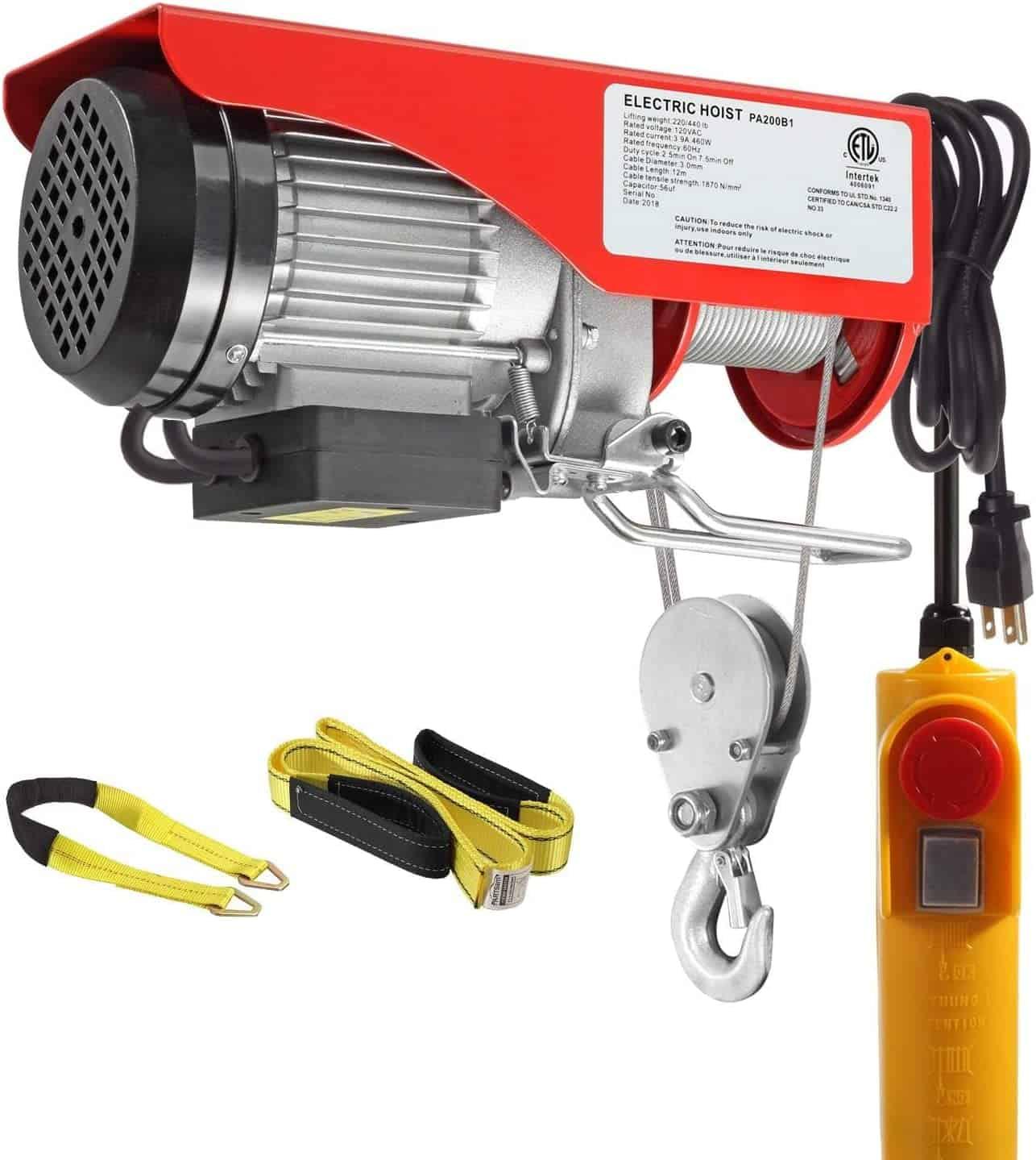 Partsam electric hoist lift with crane