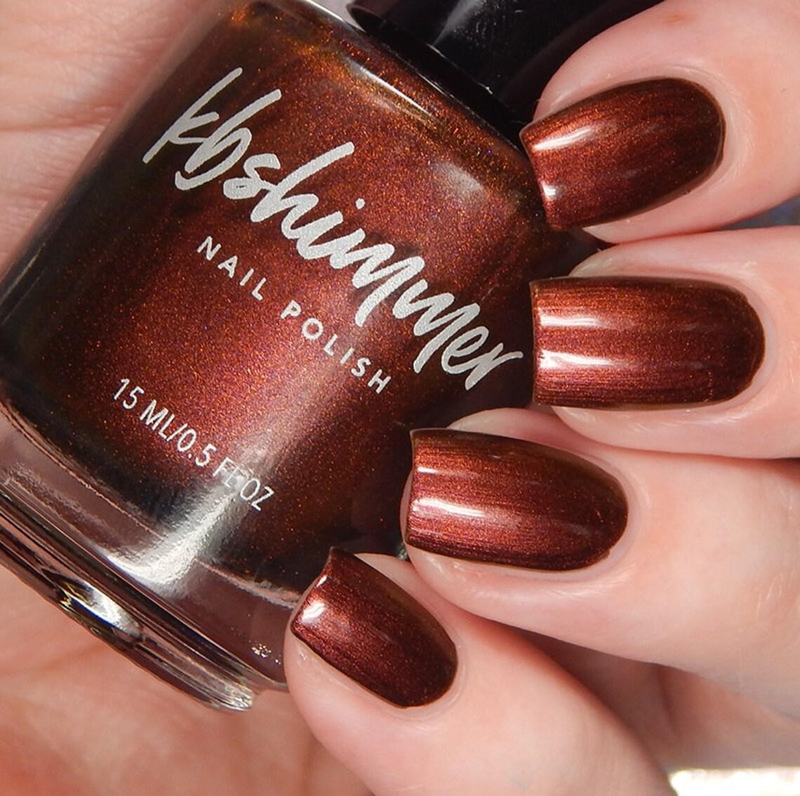 Fall nails bronze