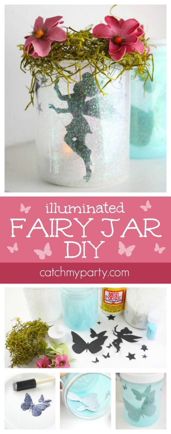 Illuminated fairy jars