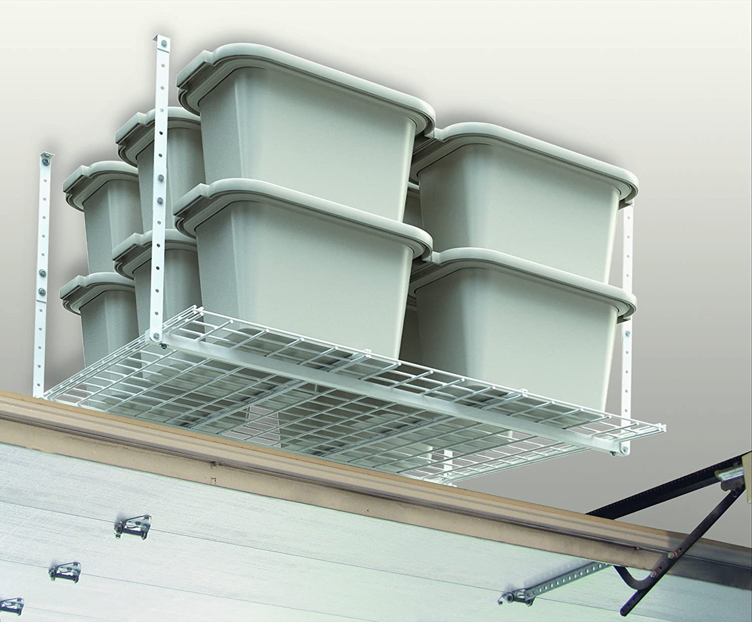 Overhead storage system, ceiling mount garage