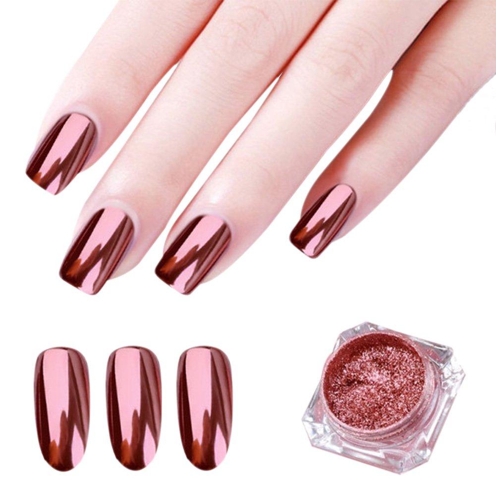 Deep rose gold nail