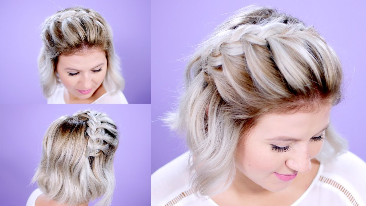 Diy french braided bangs