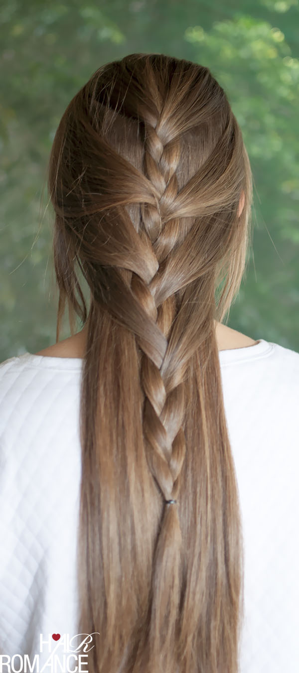 Diy half french braid sweeping look