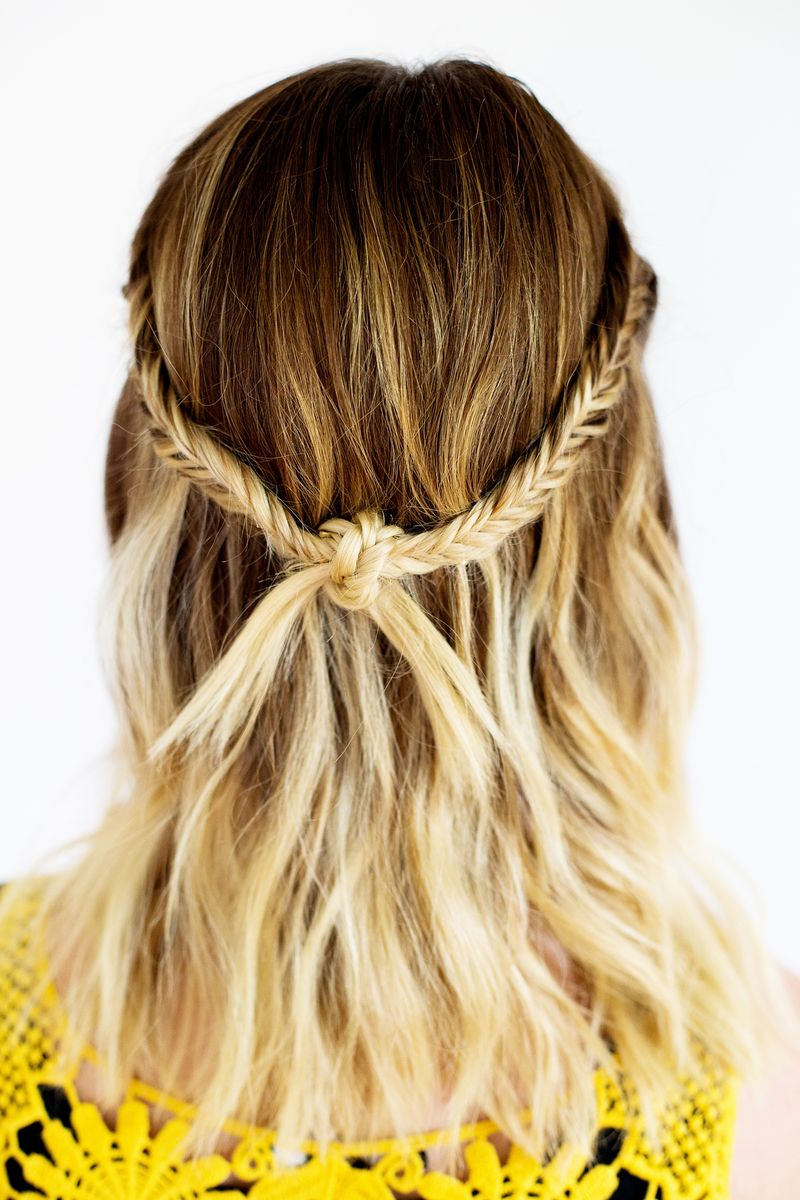 Fishtail knot hairstyle