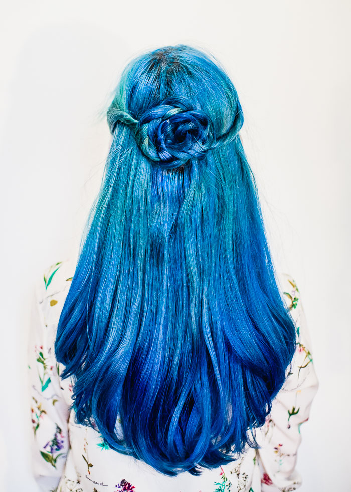 Flower braid hair tutorial