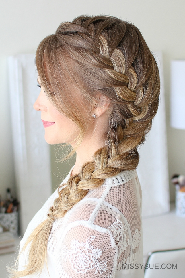 Side french braid tutorial