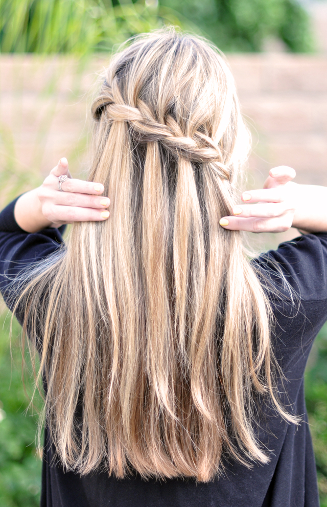 Waterfall french braid diy