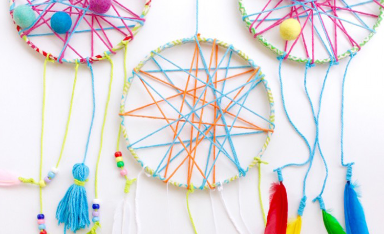Whimisical dreamcatchers diy