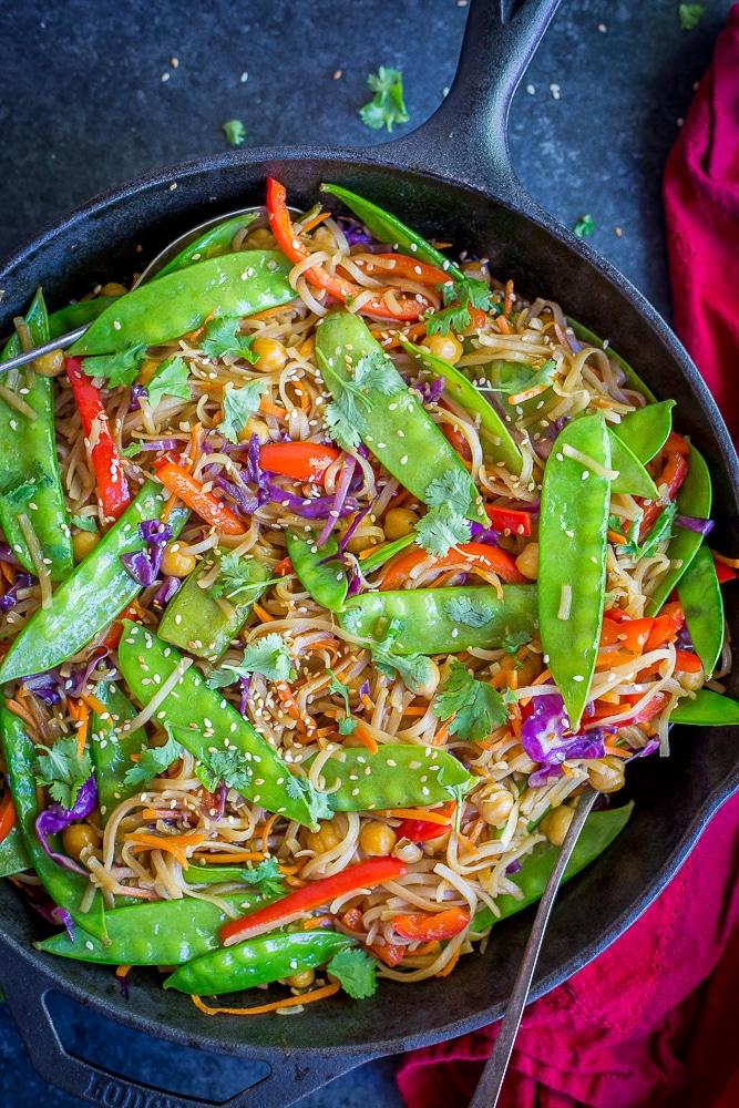 30 minute sesame ginger noodles with vegetables 85071
