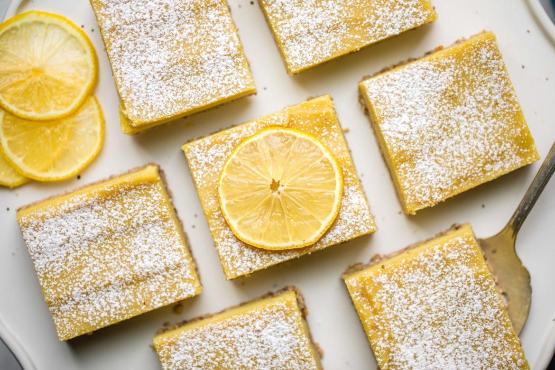 9 ingredient vegan lemon bars