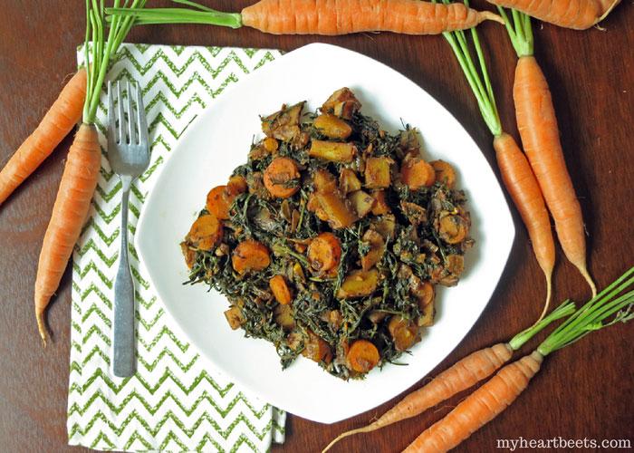 Carrot top sabzi