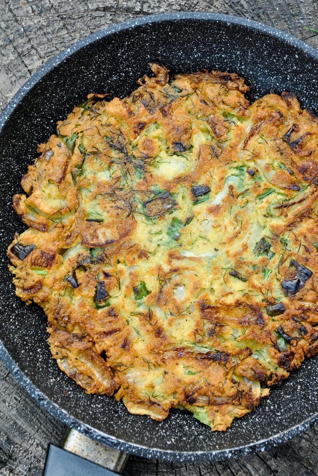 Chickpea omlettes