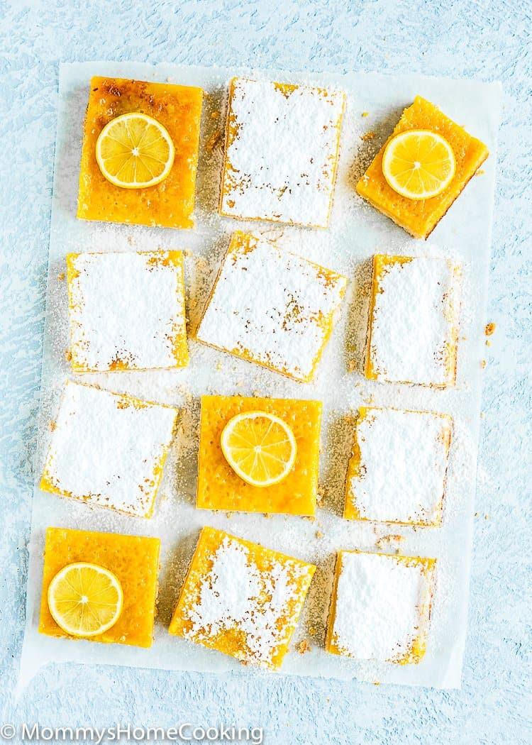 Easy eggless lemon bars